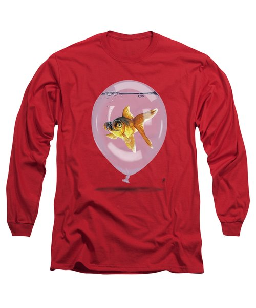 Inflated Wordless Long Sleeve T-Shirt by Rob Snow