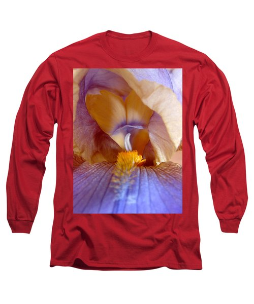 Inner Iris Series, Yellow Purple Long Sleeve T-Shirt by Jana Russon