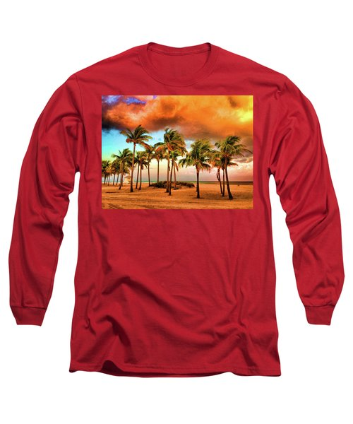 Crandon Park Beach Long Sleeve T-Shirt