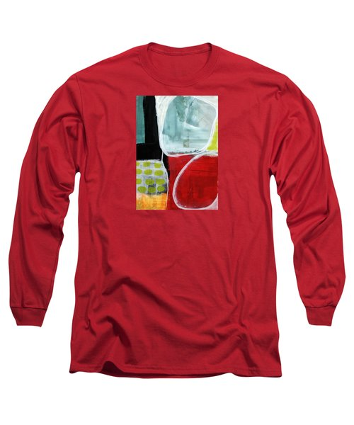 Intersection 37- Abstract Art Long Sleeve T-Shirt by Linda Woods