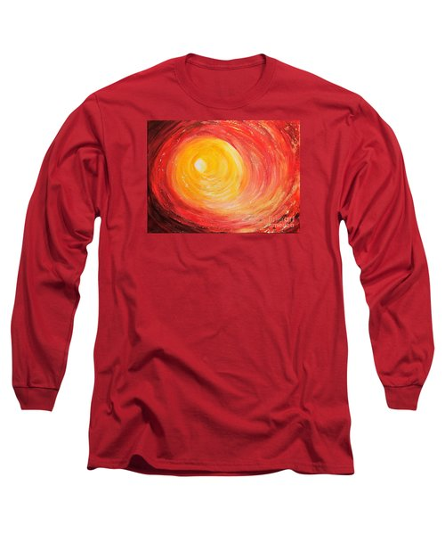 Long Sleeve T-Shirt featuring the painting Into The Light by Teresa Wegrzyn