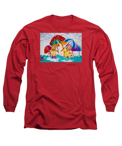 Its Raining Its Pouring Long Sleeve T-Shirt by Megan Walsh