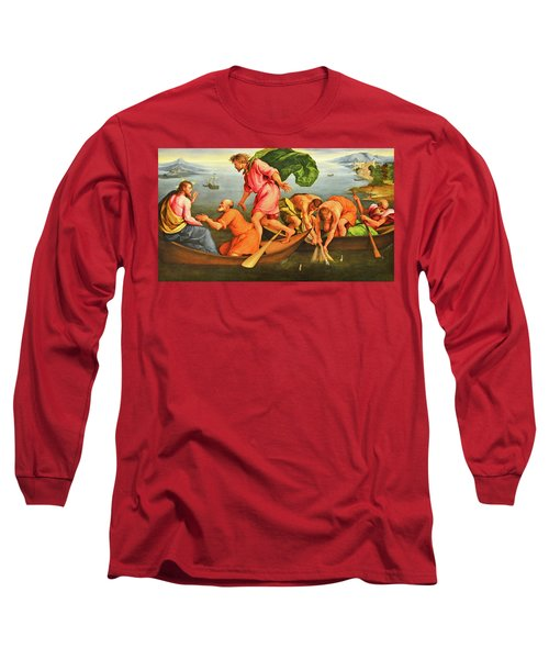 Long Sleeve T-Shirt featuring the photograph Jacopo Bassano Fishes Miracle by Munir Alawi