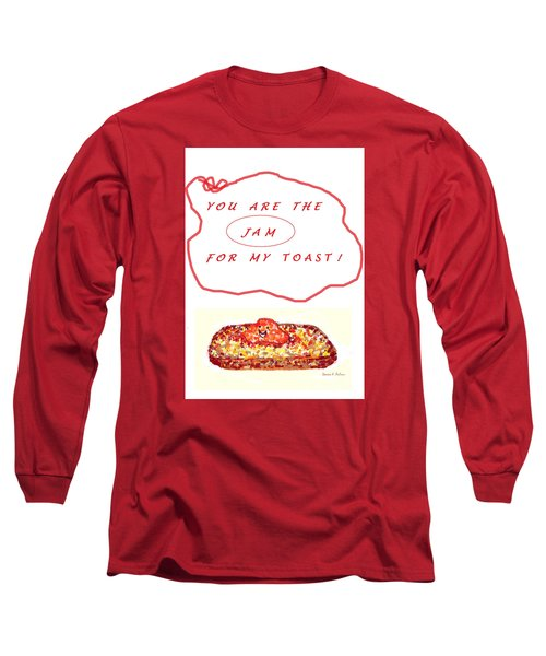 Long Sleeve T-Shirt featuring the drawing Jam For My Toast by Denise Fulmer