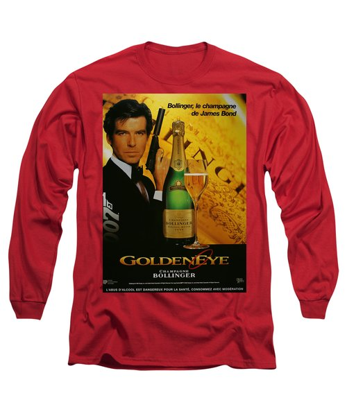 James Bond Ad 1995 Long Sleeve T-Shirt by Andrew Fare