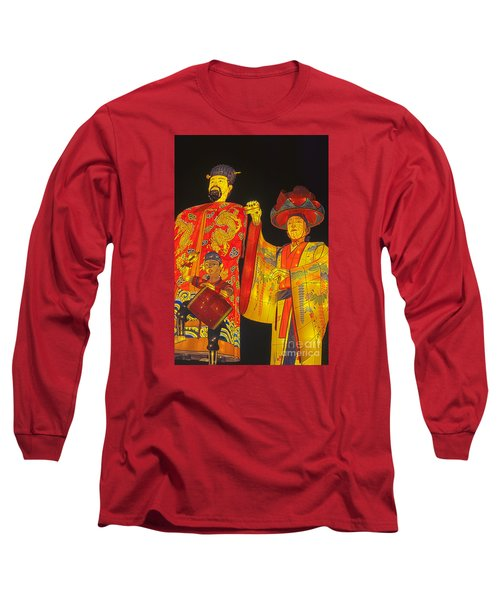 Japanese Lanterns King And His Dancers Long Sleeve T-Shirt