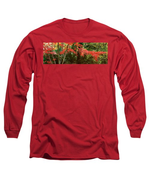 Japanese Maple Long Sleeve T-Shirt by John Pagliuca