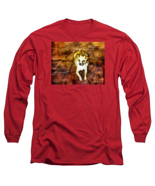 Jasper Long Sleeve T-Shirt by Rhonda Strickland
