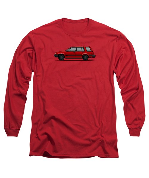 Jesse Pinkman's Crappy Red Toyota Tercel Sr5 4wd Wagon Al25 Long Sleeve T-Shirt
