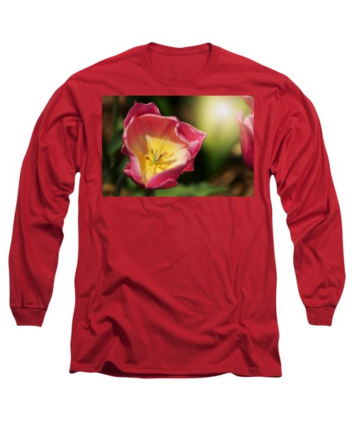 Long Sleeve T-Shirt featuring the mixed media Jessica by Trish Tritz