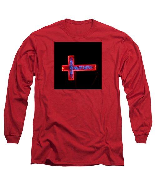 Jesus Saves At Night Long Sleeve T-Shirt