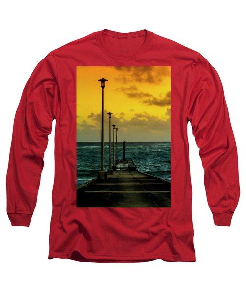 Jetty At Sunrise Long Sleeve T-Shirt