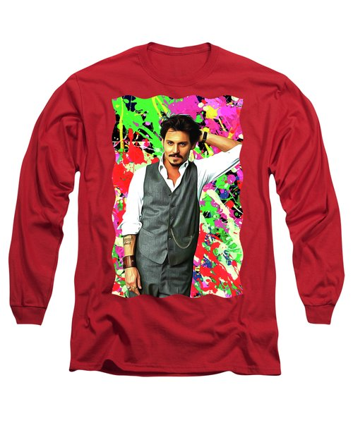 Johnny Depp - Celebrity Art Long Sleeve T-Shirt