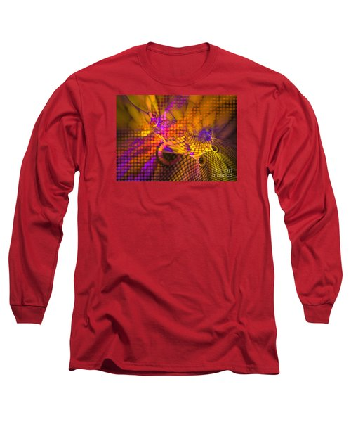 Joyride - Abstract Art Long Sleeve T-Shirt by Sipo Liimatainen