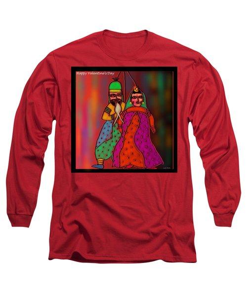 Jugalbandi Long Sleeve T-Shirt by Latha Gokuldas Panicker