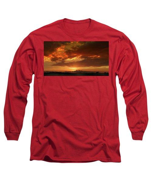 June Sunset Long Sleeve T-Shirt by Rod Seel