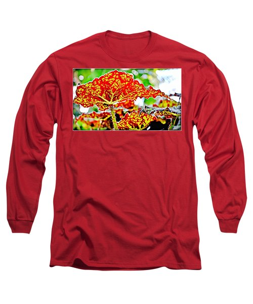 Long Sleeve T-Shirt featuring the photograph Jungle Leaf by Mindy Newman