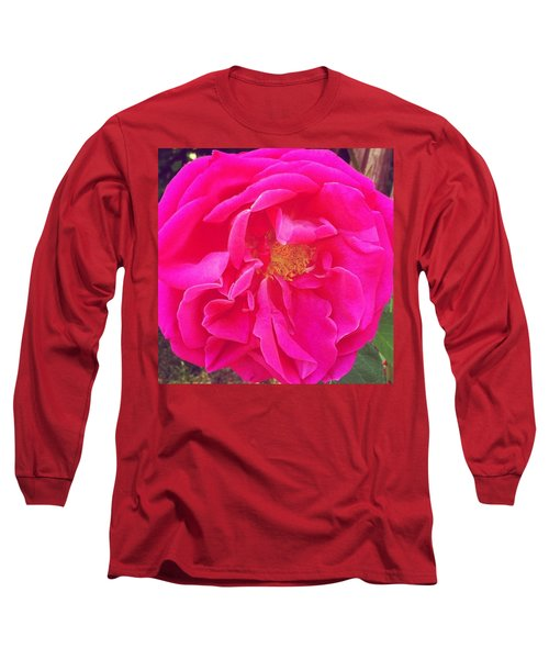 Just A Rose...#floral #flowers #pink Long Sleeve T-Shirt