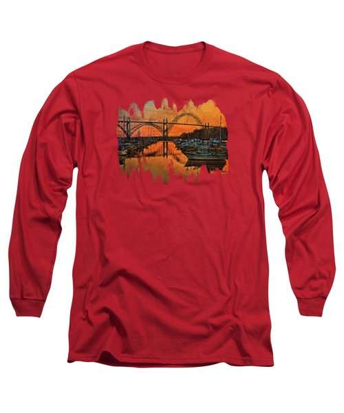Just After Sunset On Yaquina Bay Long Sleeve T-Shirt by Thom Zehrfeld