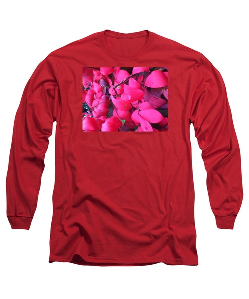 Just Red/pink Long Sleeve T-Shirt
