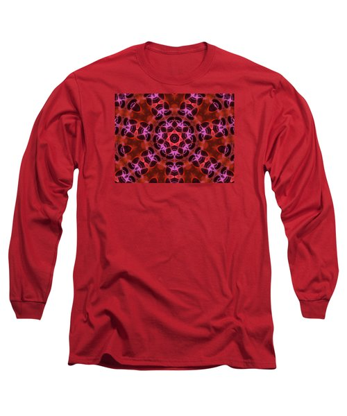 Kaleidoscope With Seven Petals Long Sleeve T-Shirt