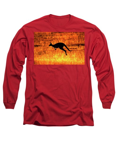 Kangaroo Sunset Long Sleeve T-Shirt