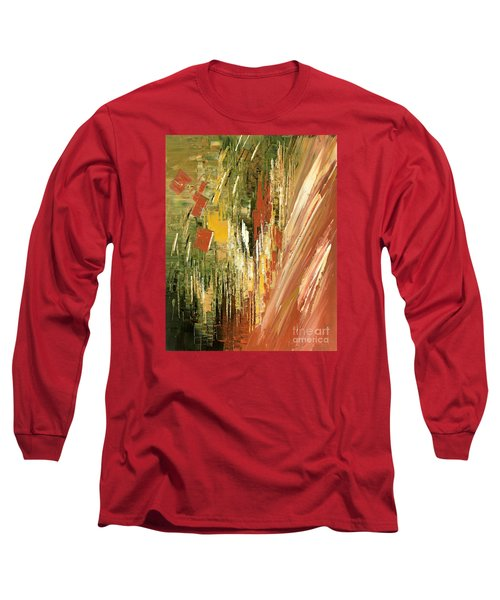 Long Sleeve T-Shirt featuring the painting Kinetic Creativity by Tatiana Iliina