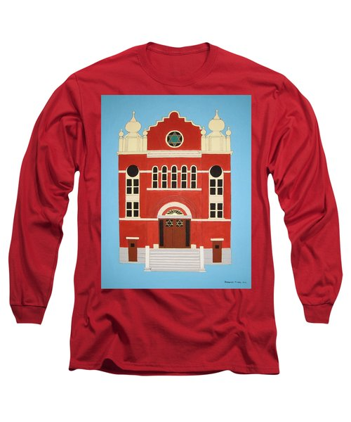 Long Sleeve T-Shirt featuring the painting King Edward Street Shul by Stephanie Moore