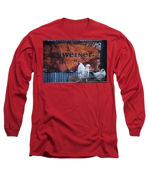 Long Sleeve T-Shirt featuring the photograph King Of Beer Doodle Do by Lee Craig