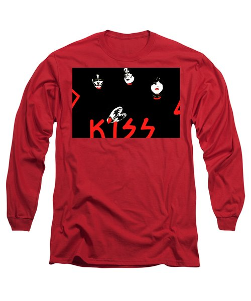 Kiss Black And Red  Long Sleeve T-Shirt