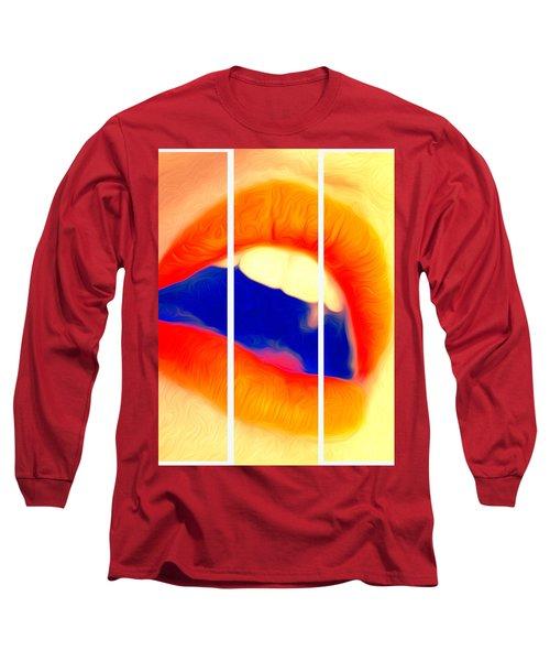 Kiss Me-triptych Long Sleeve T-Shirt