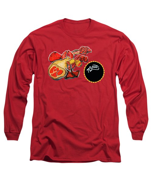 Kitchen Illustration Of Menu Of Meat Products  Long Sleeve T-Shirt