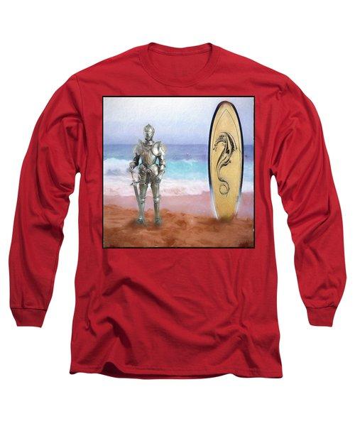 Knights Landing Long Sleeve T-Shirt by Michael Cleere