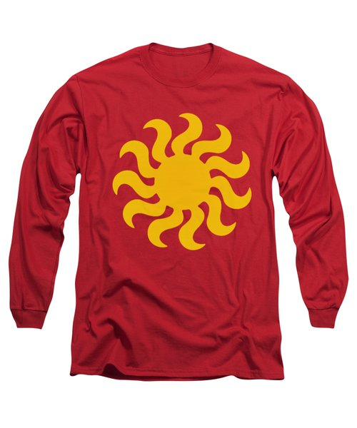 Knitted Sun Long Sleeve T-Shirt by Anton Kalinichev