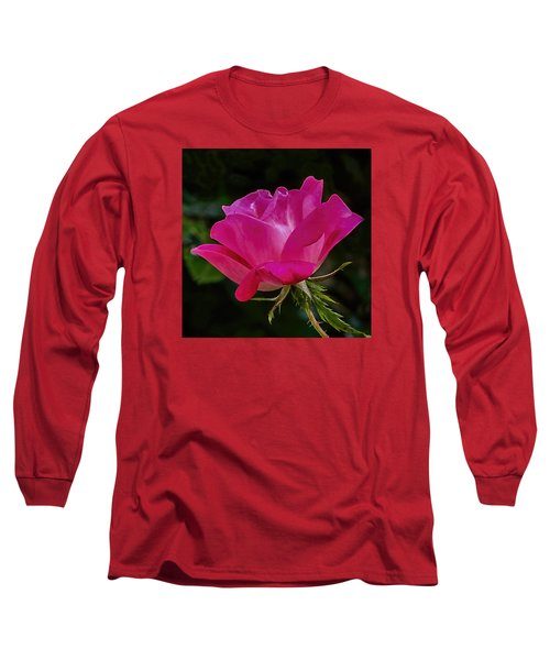 Long Sleeve T-Shirt featuring the photograph Knock-out Rose by Susi Stroud