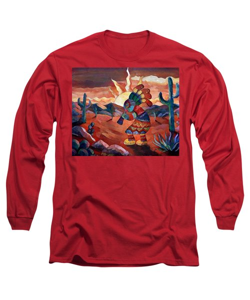 Kokopelli A Long Sleeve T-Shirt by Megan Walsh