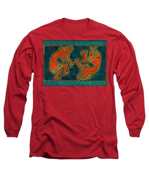 Kokopelli Dancers Long Sleeve T-Shirt