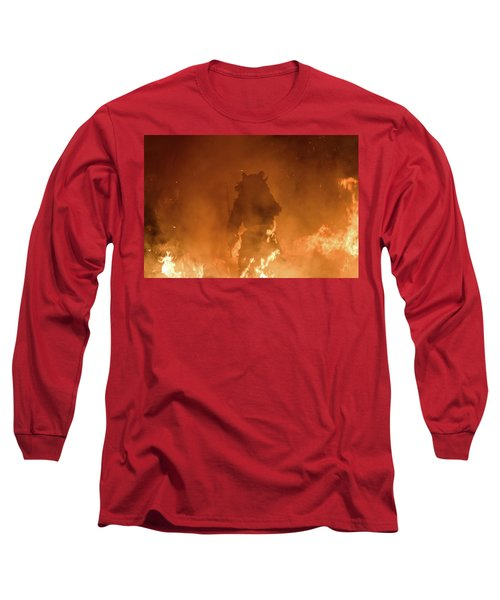 Krampus Born From The Fires Of Hell Long Sleeve T-Shirt