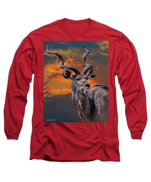 Kudu At Sunset Long Sleeve T-Shirt