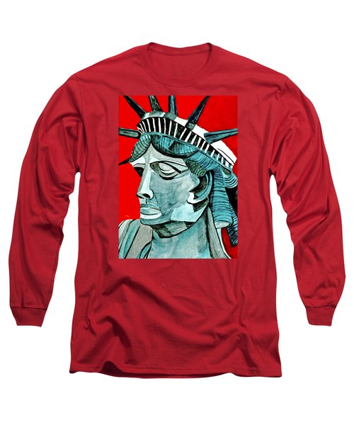 Lady Liberty Long Sleeve T-Shirt by Anna Porter