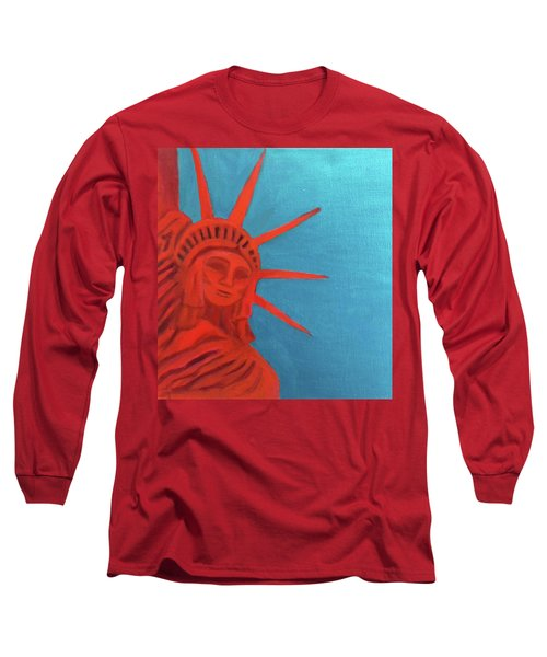 Lady Liberty Long Sleeve T-Shirt by Margaret Harmon
