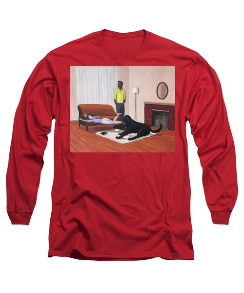 Lady Pulling Mommy Off The Couch Long Sleeve T-Shirt