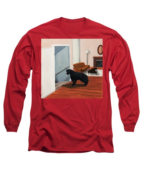 Lady Stares Down The Big Stairs Long Sleeve T-Shirt