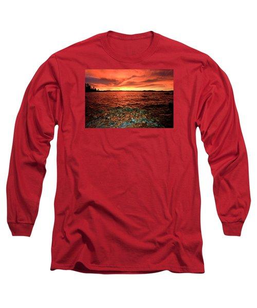 Lake Tahoe...blood Moon Sunset Long Sleeve T-Shirt