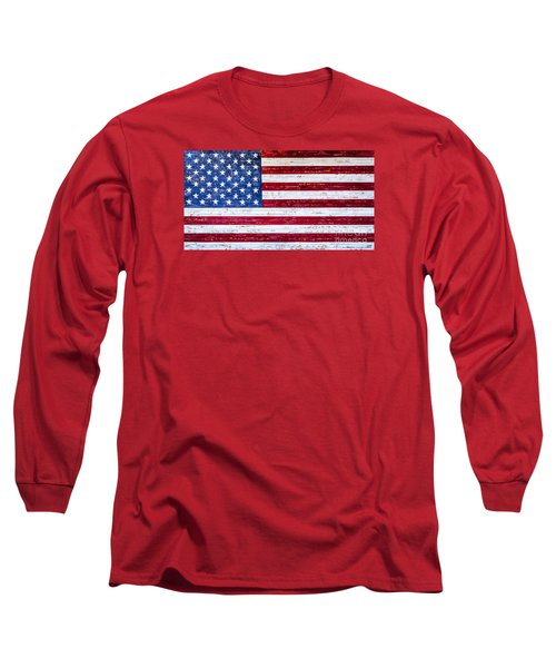Land Of The Free Long Sleeve T-Shirt by David Millenheft