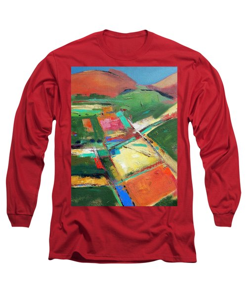 Land Patches Long Sleeve T-Shirt by Gary Coleman