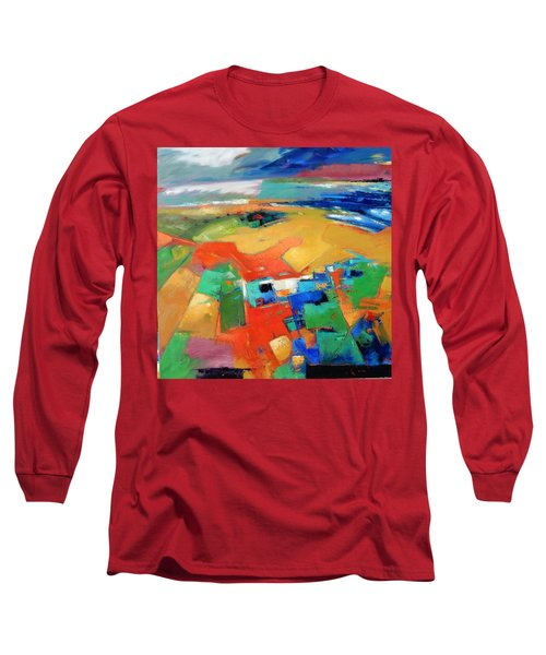 Long Sleeve T-Shirt featuring the painting Landforms, Suggestion Of A Memory by Gary Coleman
