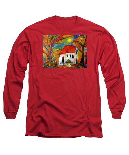Landscape With The House Long Sleeve T-Shirt by Mikhail Savchenko
