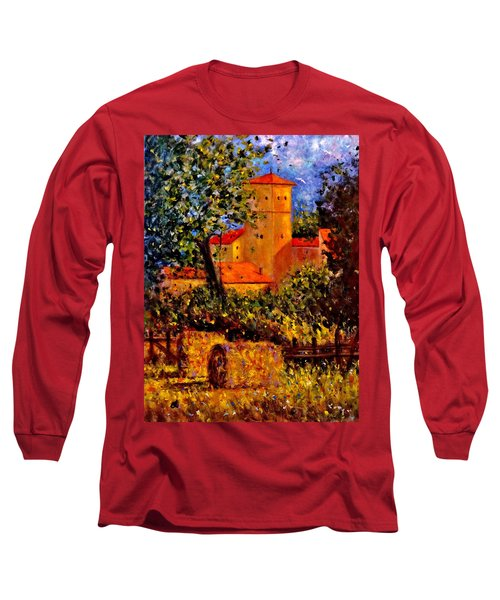 Long Sleeve T-Shirt featuring the painting A Gust Of Wind.. by Cristina Mihailescu