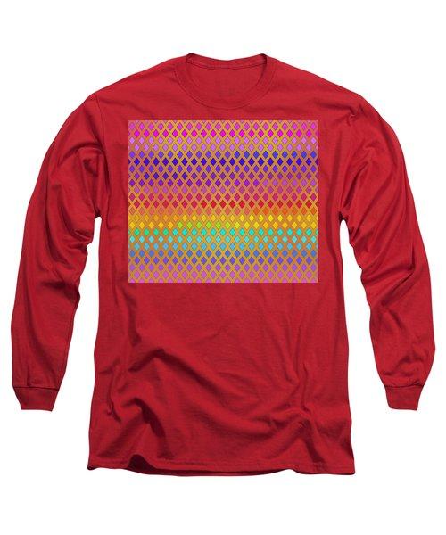 Latticed Rainbow Long Sleeve T-Shirt